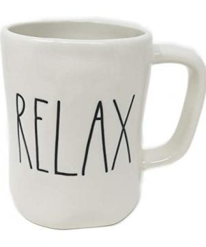 Rae DunnMagenta Relax Mug In Large Letters 0 300x360