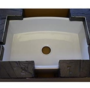 Regallo True Fireclay Reversible 30 Apron Front Sink By MOCCOA Farmhouse Kitchen Sink White 0 4 300x295