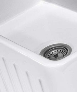 Reversible 33 Inch White Fireclay Farmhouse Kitchen Sink 0 3 300x360