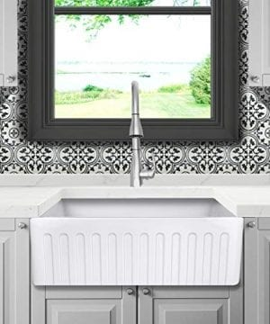 Reversible 33 Inch White Fireclay Farmhouse Kitchen Sink 0 5 300x360