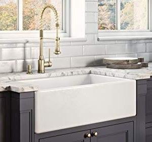 Ruvati 30 X 20 Inch Fireclay Reversible Farmhouse Apron Front Kitchen Sink Single Bowl White RVL2100WH 0 1 300x281