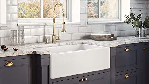 Ruvati 30 X 20 Inch Fireclay Reversible Farmhouse A Front Kitchen Sink Single Bowl White Rvl2100wh