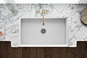 Ruvati 30 X 20 Inch Fireclay Reversible Farmhouse Apron Front Kitchen Sink Single Bowl White RVL2100WH 0 3 300x200
