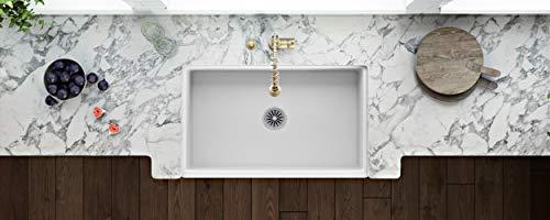 Ruvati 30 X 20 Inch Fireclay Reversible Farmhouse Apron Front Kitchen Sink Single Bowl White RVL2100WH 0 3