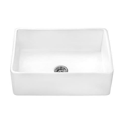 Ruvati 30 X 20 Inch Fireclay Reversible Farmhouse Apron Front Kitchen Sink Single Bowl White RVL2100WH 0 4
