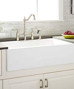 Signature Hardware 423060 Almeria 33 Farmhouse Single Basin Cast Iron Kitchen Sink 0 300x360