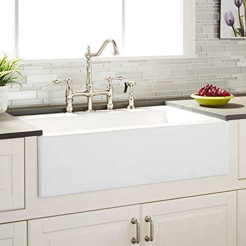 Signature Hardware 423060 Almeria 33 Farmhouse Single Basin Cast Iron Kitchen Sink 0