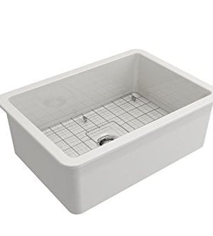 Sotto Undermount Fireclay 27 In Single Bowl Kitchen Sink With Protective Bottom Grid And Strainer In White 0 2 300x333