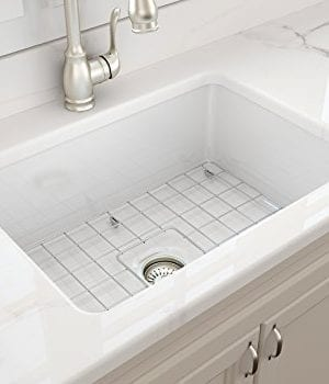 Sotto Undermount Fireclay 27 In Single Bowl Kitchen Sink With Protective Bottom Grid And Strainer In White 0 3 300x350