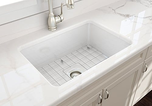 Sotto Undermount Fireclay 27 In Single Bowl Kitchen Sink With Protective Bottom Grid And Strainer In White 0 3