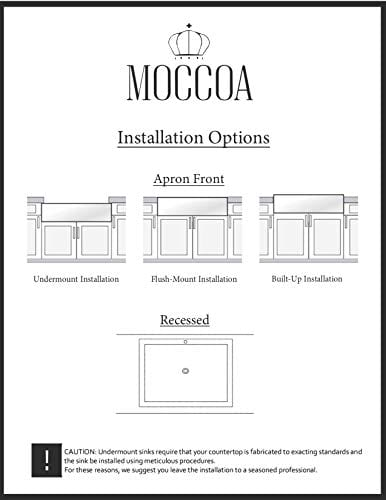 Stria True Fireclay Reversible 30 Apron Front Sink By MOCCOA Farmhouse Kitchen Sink White 0 4