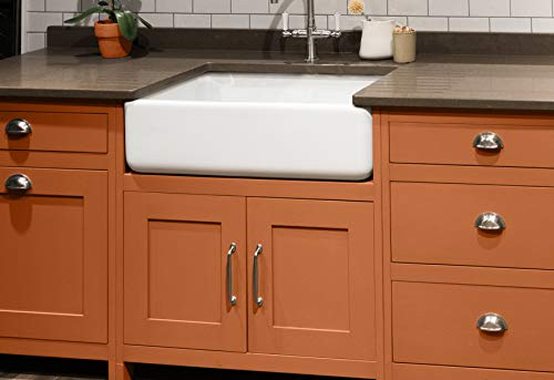 Transolid FUSS301810 Porter Fireclay Undermount Reversible Plain Super Single Bowl Farmhouse Kitchen Sink 30 L X 18 W X 10 H White 0 0