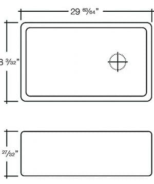 Transolid FUSS301810 Porter Fireclay Undermount Reversible Plain Super Single Bowl Farmhouse Kitchen Sink 30 L X 18 W X 10 H White 0 1 300x360
