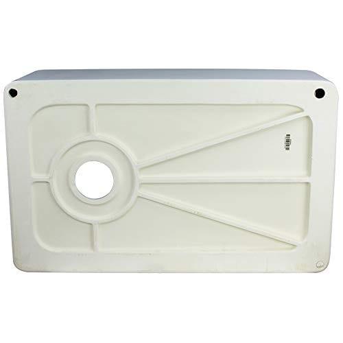 Transolid FUSS301810 Porter Fireclay Undermount Reversible Plain Super Single Bowl Farmhouse Kitchen Sink 30 L X 18 W X 10 H White 0 3
