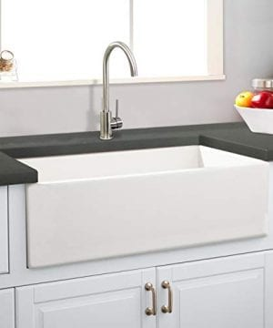 Transolid FUSS361810 Porter Fireclay Farmhouse Kitchen Sink 36 In L X 18 In W X 10 In H White 0 0 300x360