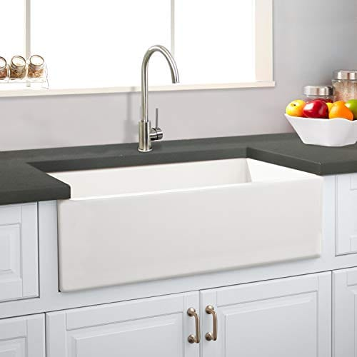 Transolid FUSS361810 Porter Fireclay Farmhouse Kitchen Sink 36 In L X 18 In W X 10 In H White 0 0
