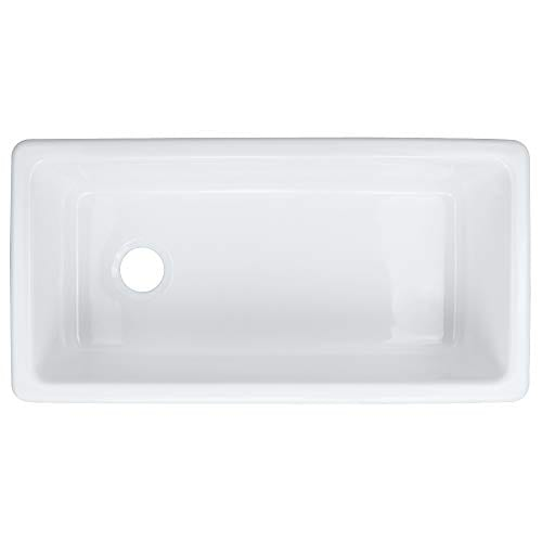 Transolid FUSS361810 Porter Fireclay Farmhouse Kitchen Sink 36 In L X 18 In W X 10 In H White 0 3