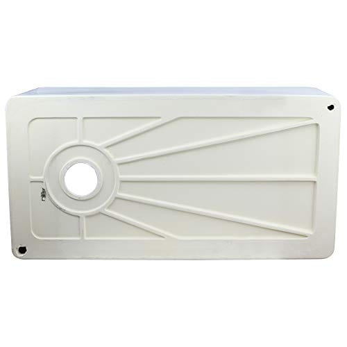 Transolid FUSS361810 Porter Fireclay Farmhouse Kitchen Sink 36 In L X 18 In W X 10 In H White 0 4