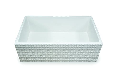 Treillage True Fireclay Sink By MOCCOA Reversible Apron Front Sink 30 Farmhouse Sink White 0 0