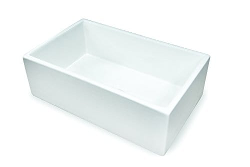 Treillage True Fireclay Sink By MOCCOA Reversible Apron Front Sink 30 Farmhouse Sink White 0