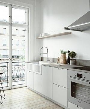 VIGO 36 Inch Farmhouse Apron Single Bowl Matte Stone Kitchen Sink 0 3 300x360
