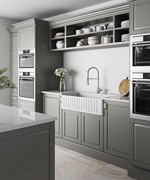 VIGO 36 Inch Farmhouse Apron Single Bowl Matte Stone Kitchen Sink 0 4 300x360