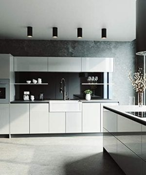 VIGO Crown VGRA3318SF 33 Inch Farmhouse Kitchen Sink Apron Front Single Bowl Composite Solid Surface Matte White Finish 0 2 300x360