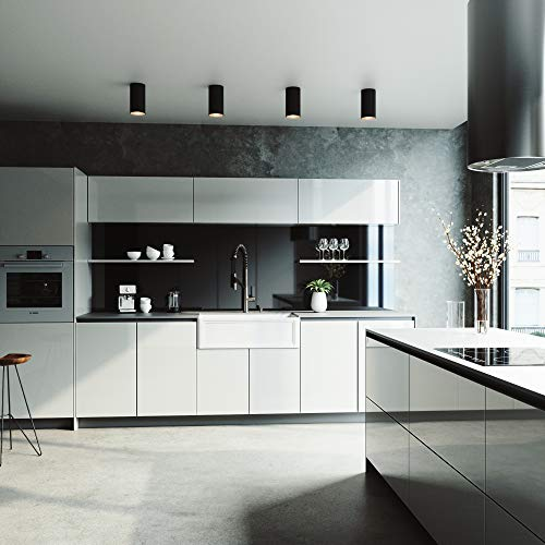 VIGO Crown VGRA3318SF 33 Inch Farmhouse Kitchen Sink Apron Front Single Bowl Composite Solid Surface Matte White Finish 0 2