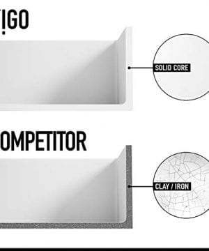 VIGO Crown VGRA3318SF 33 Inch Farmhouse Kitchen Sink Apron Front Single Bowl Composite Solid Surface Matte White Finish 0 4 300x360