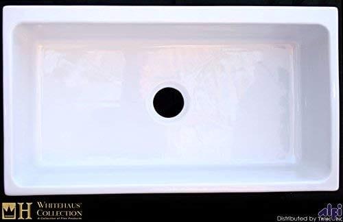 Whitehaus WHQ536 WHITE Farmhaus Quatro Alcove 36 Inch Reversible Fireclay Sink With Apron 0 0