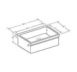 Whitehaus WHQ536 WHITE Farmhaus Quatro Alcove 36 Inch Reversible Fireclay Sink With Apron 0 1 300x280