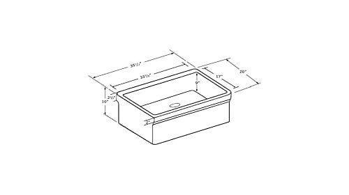 Whitehaus WHQ536 WHITE Farmhaus Quatro Alcove 36 Inch Reversible Fireclay Sink With Apron 0 1