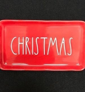 Rae Dunn Christmas Platters and Serving Trays