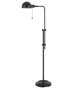 58 Inch Rustic Adjustable Pharmacy Floor Lamp With Pull Chain Switch For Reading Corner Oil Rubbed Bronze Finish 0 300x360