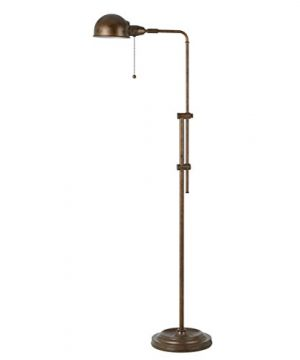58 Inch Rustic Adjustable Pharmacy Floor Lamp With Pull Chain Switch For Reading Corner Rust Finish 0 300x360