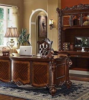 ACME Vendome Cherry Desk With Hutch 0 0 300x336