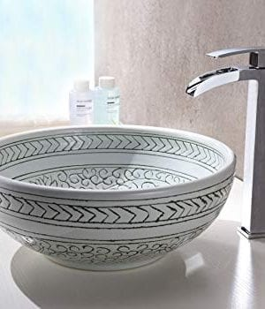 Anzzi Cadence Modern Tempered Deco Glass Vessel Bowl Sink In Decor