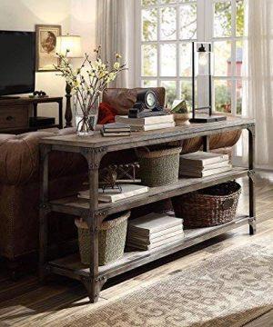 Acme Furniture 72685 Gorden 60 Server Weathered Oak Antique Silver 0 300x360