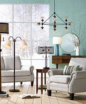 Adam Industrial Accent Table Lamp LED Edison Bulb Deep Bronze Metal Cage Shade For Living Room Family Bedroom Franklin Iron Works 0 1 300x360
