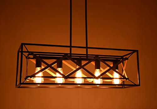 Alice House 315 Island Lighting 5 Light Kitchen Pendant Lighting Dining Room Chandelier Pool Table Light Brown Finish AL8061 P5 0 0