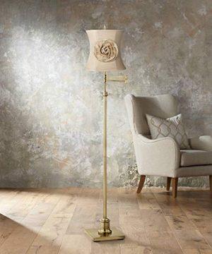Almond Linen With Flower Drum Shade 11x12x11 Spider Springcrest 0 0 300x360