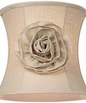 Almond Linen With Flower Drum Shade 11x12x11 Spider Springcrest 0 1 300x360