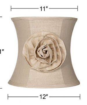 Almond Linen With Flower Drum Shade 11x12x11 Spider Springcrest 0 4 300x360