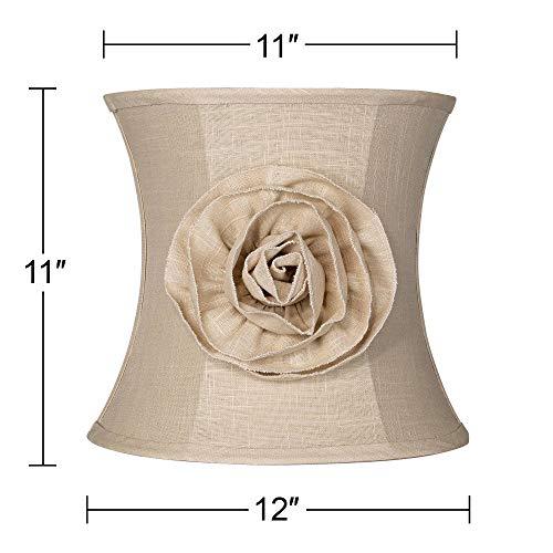 Almond Linen With Flower Drum Shade 11x12x11 Spider Springcrest 0 4