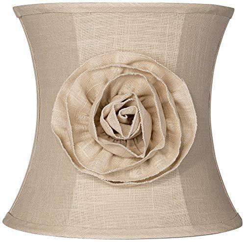 Almond Linen With Flower Drum Shade 11x12x11 Spider Springcrest 0