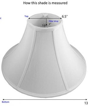 American Pride 65x 13x 8 Round Soft Shantung Tailored Lampshade Off White 0 0 300x360