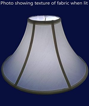 American Pride 65x 13x 8 Round Soft Shantung Tailored Lampshade Off White 0 2 300x360