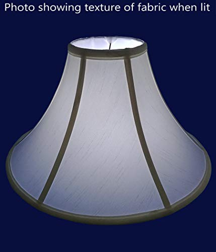 American Pride 65x 13x 8 Round Soft Shantung Tailored Lampshade Off White 0 2
