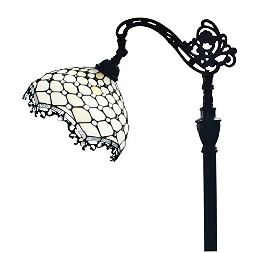 Amora Lighting AM122FL12 Jeweled Reading Floor Lamp 12W X 62H 0 0