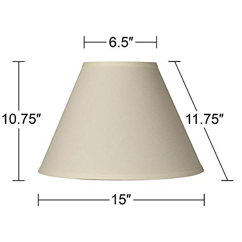 Antique White Linen Empire Lamp Shade 65x15x1075 Spider Brentwood 0 3
